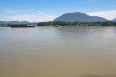Working on the Fraser River Stock Photos