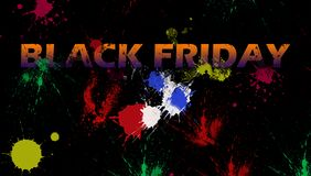 Illustration on the theme of black friday sale. royalty free stock images
