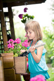 Working in the garden Royalty Free Stock Image