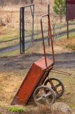 Trolley for garden work. work in the garden. stock images