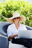 Working at garden Stock Photography