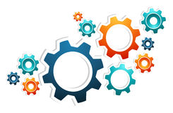 Working gears teamwork Stock Photo