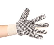 Working glove on the hand. Stock Image