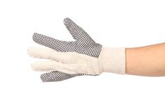 Working glove on hand. Royalty Free Stock Photo