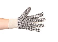Working glove on hand. Royalty Free Stock Images