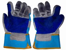 Working gloves. Dirty, worn working gloves Stock Images