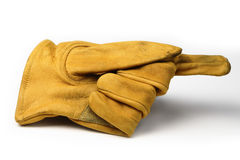 Working gloves. Over white background Royalty Free Stock Photos