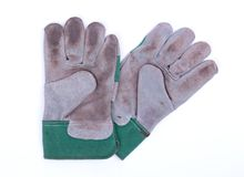 Working gloves isolated. On a white solid background royalty free stock photos