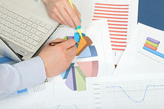 Working on graphs Stock Photos