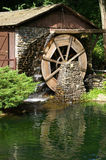 Working Grist Mill. Hydraulic powered mill, Westfield, Massachusetts Royalty Free Stock Image