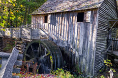 Working Gristmill in Cade's Cove Stock Image