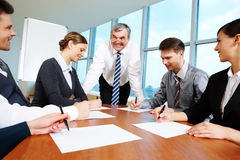 Working in group Royalty Free Stock Photos