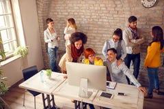 Working group in designers studio stock photo