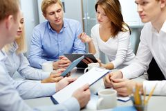 Working in groups royalty free stock photos