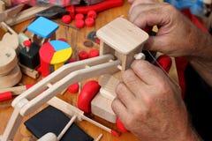 Handmade wooden toys Royalty Free Stock Photos