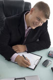 Working handsome businessman Stock Image
