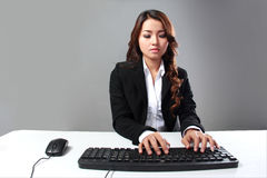 Working hard on computer Royalty Free Stock Photography