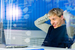 Working hard concept Royalty Free Stock Image