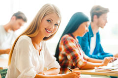 Working hard for good grades. Stock Photos
