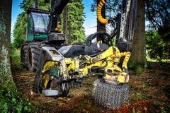 Working harvester Stock Photo