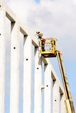 Working at heights Royalty Free Stock Photography