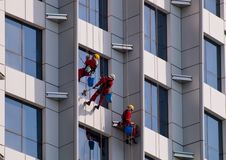 Working at heights stock images