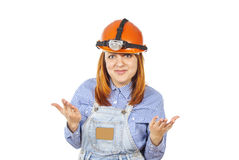 Working in a helmet Royalty Free Stock Image