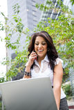 Working hispanic businesswoman Royalty Free Stock Image