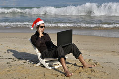 Working on holidays Royalty Free Stock Photography
