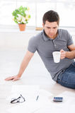 Working at home. Stock Photo