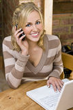 Working From Home Royalty Free Stock Photos
