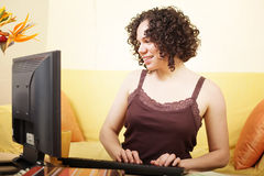 Working from home Royalty Free Stock Photography