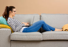 Working at home Stock Images