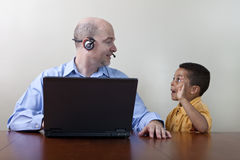 Working from home distractions Royalty Free Stock Photography