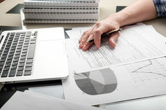 Working in a home office Royalty Free Stock Images