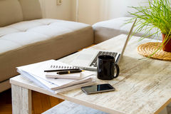 Working at home Royalty Free Stock Photo