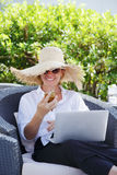 Working at home Royalty Free Stock Photos