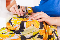 Working from home, a tailor at work. Royalty Free Stock Photography