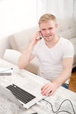 Working at home Royalty Free Stock Images
