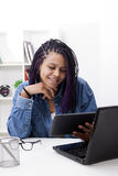 Working at home with your computer Stock Image