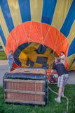 Working on the hot air balloon Royalty Free Stock Images