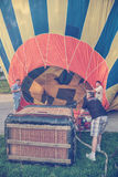 Working on the hot air balloon 2 Royalty Free Stock Photography