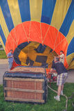 Working on the hot air balloon 4 Stock Photography