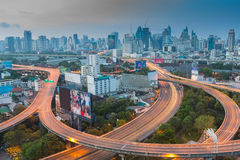 Before working hour of Bangkok city express way Royalty Free Stock Images