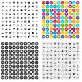 100 working hours icons set vector variant. 100 working hours icons set vector in 4 variant for any web design isolated on white stock illustration