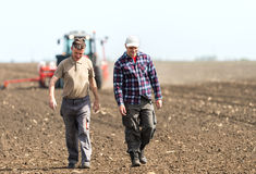 Working In Agriculture Royalty Free Stock Photos