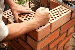Working In Progress. Bricks Laying Stock Images
