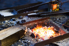 Working iron craftsman Stock Photos
