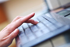 Working on keyboard Royalty Free Stock Image