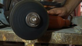 Working knife sharpening machine